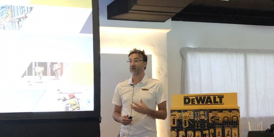 Cristiano Granata, director general de Stanley Black&Decker, durante el road show de Madrid.
